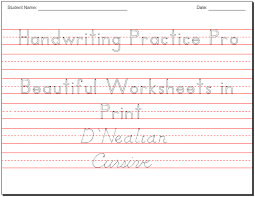 Practice Writing Letters Template Awesome Make Beautiful Handwriting Practice Worksheets