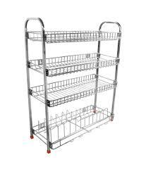 Kitchen Racks Stainless Steel Buy Dailyshoper Stainless Steel Kitchen Rack Online At Low Price