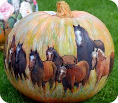 painted horses pumpkin the best diy carved decorated for