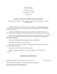 Pharmaceutical Quality Control Resume Sample Free Resume Example