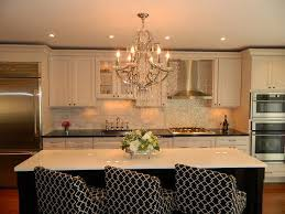 kitchen with chandelier traditional kitchen with chandelier over large island with seating