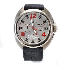 locman mare ref 130 titanium case silver dial fabric band quartz locman mare ref 130 titanium case silver dial fabric band quartz mens watch