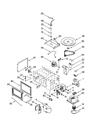 Gmc275pdb1 electric oven microwave bo cabi and stirrer parts diagram
