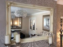 shabby chic decorative wall mirror choose your size and colour free p p