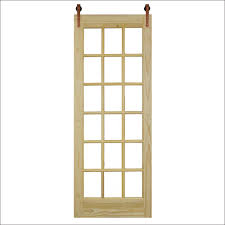 steves and sons 30 in x 96 in 18 lite unfinished pine 18 lite clear barn door with copper wood sliding door hardware kit bd18lp ufcp 30slb the home