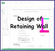 Small Picture Design of Retaining Wall Excel Sheet