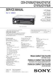 sony cdx gt420u wiring diagram sony wiring diagrams cars sony cdx 4750 c6600 rvice manual schematics