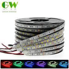 RGB Dây Đèn LED Ánh Sáng 5050 2835 DC12V Neon Nơ Chống Nước LED Dẻo Diode  Băng 60LED/M 5M 12V Dây Đèn LED Trang Trí Nhà|led strip 5050|led stripstrip  5050 - AliExpress