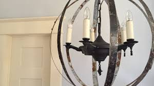 diy how to make a caged orb chandelier