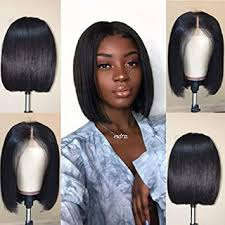 Short Straight Bob Wigs Human Hair Wigs 8 Inch ... - Amazon.com