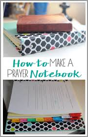 a step by step tutorial teaching you how to make your own prayer notebook