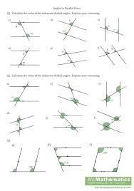 Angles And Parallel Lines Worksheet | Home Design