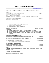 Sample College Freshman Resume College Freshman Resume Sample RESUME 41
