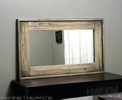rustic wood framed mirrors. Rustic Wall Mirror Wood Framed Distressed Farmhouse By For Sale Mirrors
