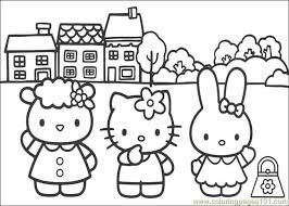 Small Picture Hello Kitty 09 Coloring Page Free Hello Kitty Coloring Pages