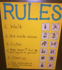 Preschool Class Rules Chart Classroom Rules