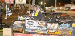 nathan ballard topped the second hobby stock qualifying feature during the monday imca sdway motors super nationals fueled by casey s program at boone