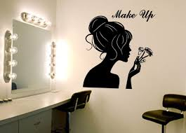 make up wall art decal