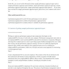 Best Of Employees Performance Appraisal Form Forms Samples Picture ...