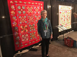 November 7, 2017: Back from Houston!; some pictures from the show ... & Now I am going to share some of the quilts from the show, in no particular  order except I'll probably start with some of my favorites (there were  many!!!). Adamdwight.com