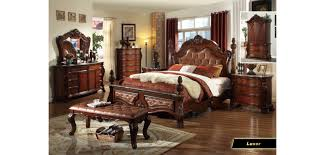 traditional bedroom furniture. Luxor Marble Top Poster Bedroom Set By Empire Furniture Designs Traditional T