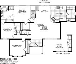simple housing floor plans. Titan Cayuga Model 799 Floor Plan Simple Housing Plans