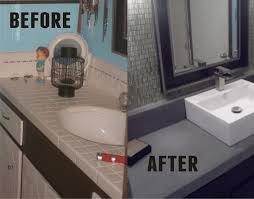 tiki time diy bathroom redo concrete countertop