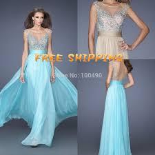 Light Blue Sparkly Bridesmaid Dresses 2015 Freeshipping Custom Made Chiffon Cheap Light Blue