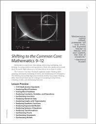 shifting to the common core mathematics grades 9 12