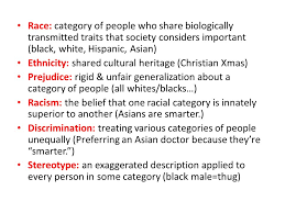 rigid people. race: category of people who share biologically transmitted traits that society considers important (black rigid
