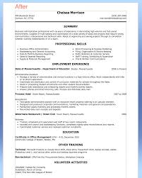 Sample Resume Format For Administrative Assistant Study Image