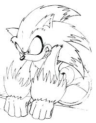 Sonic Color Page Printable Sonic Coloring Pages For Kids Color