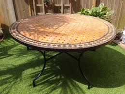 moroccan garden furniture. authentic moroccan mosaic garden table furniture d