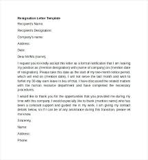 Letter Of Resignation Templates Word Template Resignation Letter How To Write A Resignation Letter