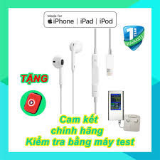 Tai nghe iPhone 7/8/X/11/Pro Max Cam kết zin bóc máy - kèm hộp đựng tai nghe  - Tai nghe có dây nhét tai