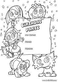 Small Picture Resultado de imagen para coloring invitation card birthday