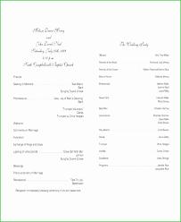 Free Wedding Program Templates Word Beautiful Wedding Ceremony