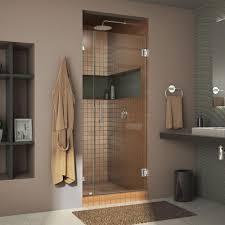 dreamline unidoor lux 32 in x 72 in frameless pivot shower door in chrome