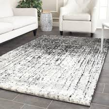 grey and white area rug modern