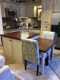 Item 174 Kitchen Island With Table Height Seating Area Etsy