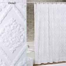 belle shower curtain white 72 x 72 to expand