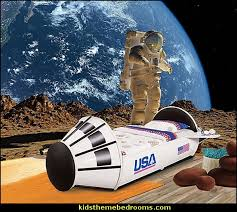 outer space theme bedrooms planets decor solar system decorating moon stars alien theme shuttle themed bed