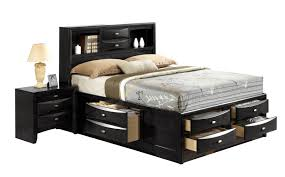 linda black queen size bed linda global furniture usa modern