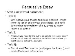 national persuasive essay ppt video online  7 persuasive