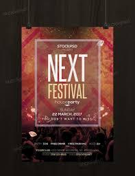 next festival psd template flyer com next festival flyer template photoshop