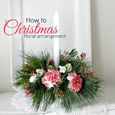 How to Make a Floral Christmas Centerpiece