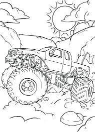 Monster Truck Coloring Pages To Print Batman Monster Truck Coloring