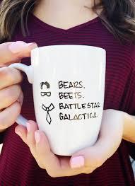 the office coffee mug. The Office Mug. Bears Beets Battlestar Galactica Dwight Funny Television Show. Office. Gift Coffee Mug