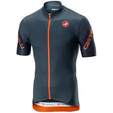 Castelli Entrata 3 Short Sleeve Jersey Grey Blue Rau On