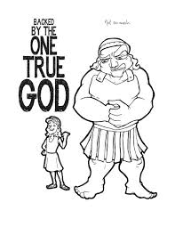 David And Goliath Coloring Page And Coloring Page Printable